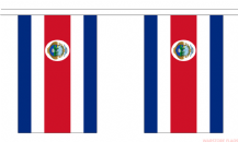 COSTA RICA BUNTING - 3 METRES 10 FLAGS